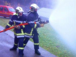 Les pompiers en manoeuvre