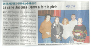 article presse grenouille 06.02.2016