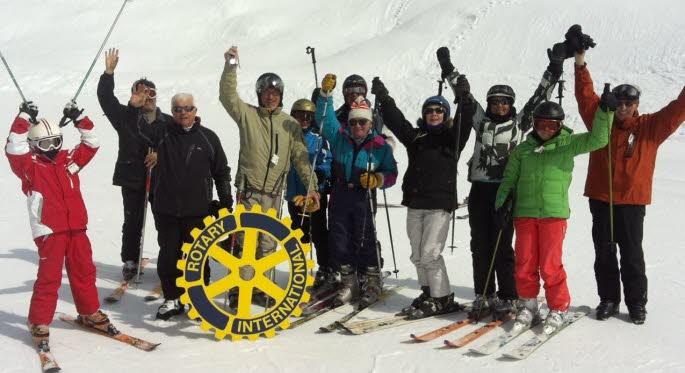 Les Rotariens sur les pistes